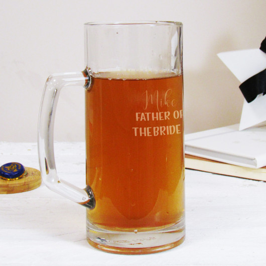 Personalised Father of the... Wedding Beer Tankard