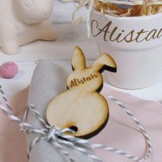Easter Bunny Place Name Napkin Tag