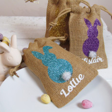 Bunny Easter Jute Bag Place Names