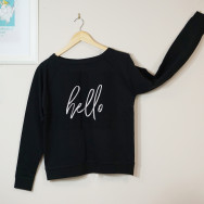 Personalised Hello Slogan Sweatshirt