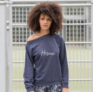 Personalised Heroine Slogan Sweatshirt