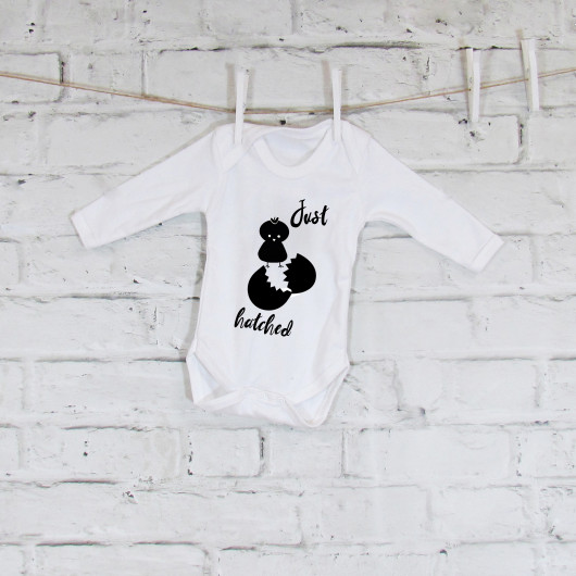 Personalised Just Hatched Baby Grow