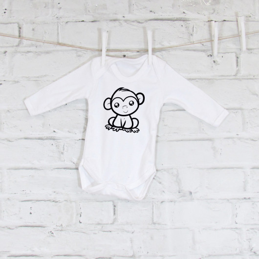 Personalised Cheeky Monkey Baby Grow