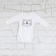 Personalised Monochrome Cat Baby Grow