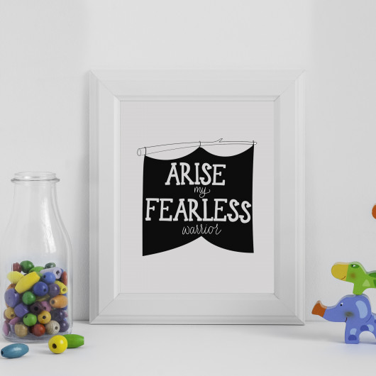 Personalised Arise My Fearless Warrior Print