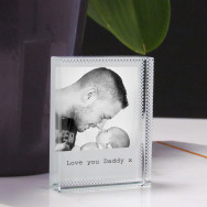 Personalised Crystal Photo Block