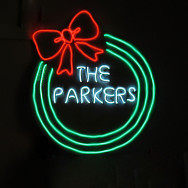 Personalised Neon Personalised Christmas Wreath
