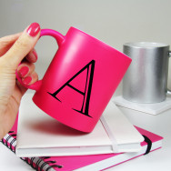 Personalised Alphabet Bright Neon Mug