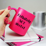 Personalised Definitely Not Alcohol Neon Mug