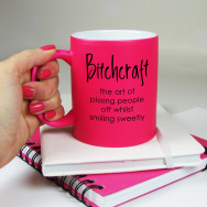 Personalised Bitchcraft Neon Mug