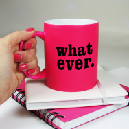 Personalised Whatever Neon Mug
