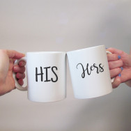Personalised His & Hers Wedding Mug Set