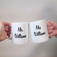 Personalised Mr & Mrs Personalised Wedding Mugs