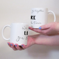 Personalised We Go Together Couples Mug Set