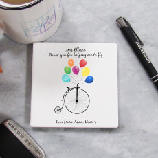 Personalised Thank You Teacher Coaster