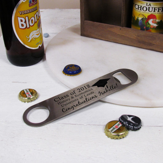 Personalised Graduation Gift Bottle Opener