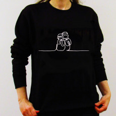 Personalised Christmas Jumper Hand Drawn Snowman
