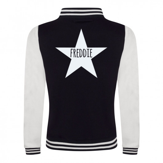 Personalised Kids personalised varsity jacket