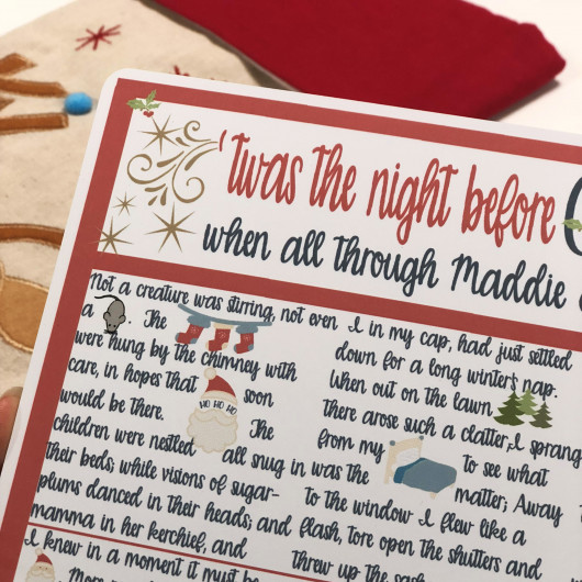Personalised Twas The Night Before Christmas Personalised Story