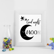 Personalised Good night Moon nursery print
