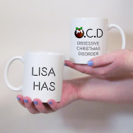 Personalised Obsessive Christmas Disorder Mug