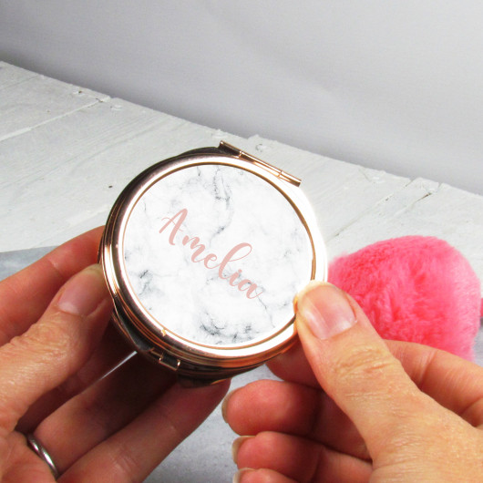 Personalised Personalised Rose Gold Compact Mirror