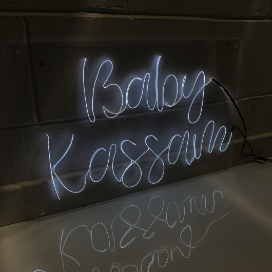 Personalised Personalised Neon Baby Shower Sign