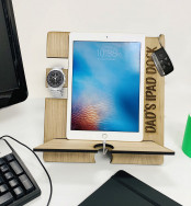 Personalised iPad Docking Station And Accessories Holder