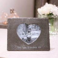 Personalised Personalised slate heart photo frame