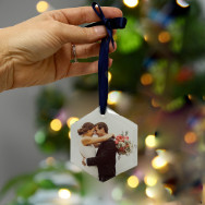 Personalised Glass Photo Hanging Decoration