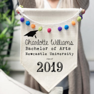 Personalised Graduation Pennant Flag