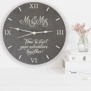 Personalised Time To Start Your Adventure Together Slate Clock