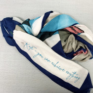 Personalised Printed Personalised Message Watercolour Scarf