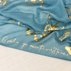 Personalised Personalised Message Metallic Gold Butterfly Scarf