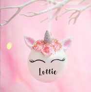 Personalised Personalised Unicorn Bauble