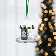 Personalised Personalised Glass Gin Bauble