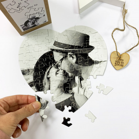 Personalised Personalised Heart Love You To Pieces Jigsaw