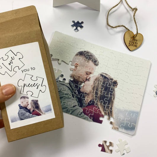 Personalised Personalised Rectangular Love You To Pieces Jigsaw