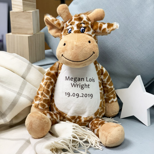 Personalised Personalised Giraffe Soft Toy And Pyjama Case