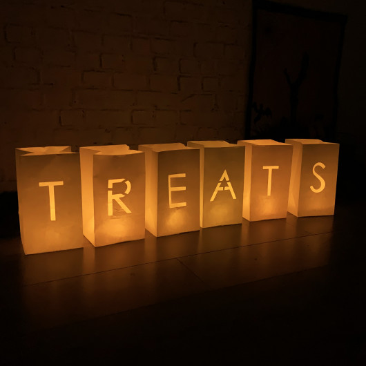 Personalised Halloween Candle Decorations