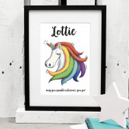 Personalised Personalised Unicorn Print