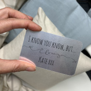 Personalised I Know You Know But… Metal Business Card