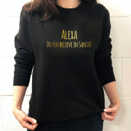 Personalised Alexa, Do You Believe In Santa Christmas Jumper