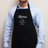 Personalised Alexa, Cook Christmas Dinner Apron