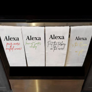 Personalised Funny Alexa Christmas Tea Towel