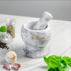 Personalised Personalised Marble Pestle And Mortar