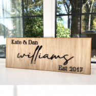 Personalised Personalised Couples Wooden Sign