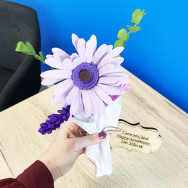 Personalised Personalised Handmade Felt Gerber Daisy Bouquet