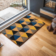Personalised Geometric Coir Doormat