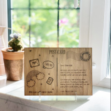 Personalised Wooden Postcard Letterbox Father's Day Gift